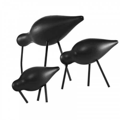 Normann Copenhagen Shorebird vadefugle sort