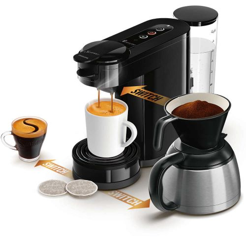 Phillips Senseo kaffemaskine 3-i-1 sort HD6594/60